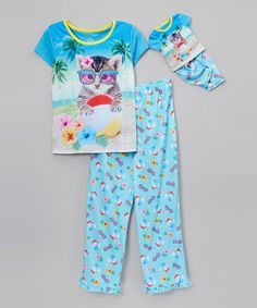 Look what I found on #zulily! Beach Kitten Pajama Set & Doll Outfit - Girls #zulilyfinds