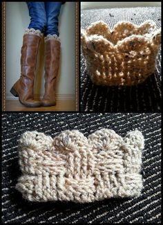 Crochet boot cuffs I made www.facebook.com/kaseyjeanclothing by Kasey Jean Clothing