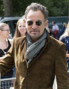This Land Is Your Land! Bruce Springsteen watched his daughter Jessica compete at London's Horse Guards Parade on Thursday as part of the Lo...
