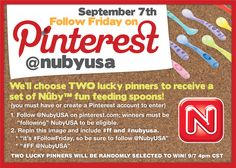 It's #FollowFriday, so go and check out @NubyUSA and follow them on Pinterest and Facebook!!  #FF #nubyusa
