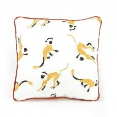 Cushion - little monkeys Yellow