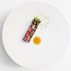Squab & foie gras. Elegant dish by @shergatt. Photo by @signebirck #gastroart