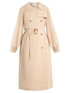 Click here to buy Tibi Notch-lapel double-breasted twill trench coat at MATCHESFASHION.COM