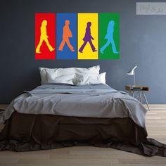 Vinilo Adhesivo Decorativo Pop Art - Abbey Road Pop Art. Nos hemos inspirado en éste movimiento artístico llamado Pop Art, y hemos creado nuestra propia versión. Abbey Road fue el último disco que grabaron The Beatles. George Harrison, Paul McCartney, Ringo Starr y John Lennon caminando de izquierda a derecha, sin mirar a cámara. #vinilos #adhesivos #decorativos #vinylandart #arte #inspiracion #diseño #popart #thebeatles #abbeyroad www.vinylandart.com