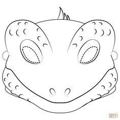 Lizard Mask Coloring Page - Free Printable Coloring Pages with regard to Lizard Mask Template. Free Printable Coloring Pages, Coloring Pages For Kids, Free Coloring, Coloring Books, Printable Masks, Printable Crafts, Free Printables, Lizard Craft, Animal Mask Templates