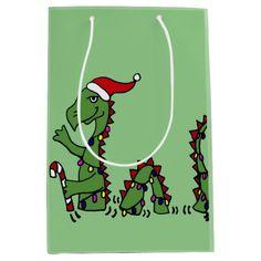 Funny Loch Ness Monster Christmas Gift Bag Medium Gift Bag