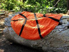 KU Jayhawks Minky and Argyle Fleece Basketball Blanket/Play Mat/Rug - RTS on Etsy, $45.00