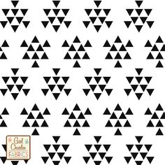 """Black Triangle Arrows on White Cotton Jersey Blend Knit Fabric - A new Girl Charlee Exclusive!!  On trend triangle arrow design in a soft black on our signature white cotton blend jersey knit.  Fabric is very soft and has a nice stretch and drape.  Triangles measure 1/2"""". A versatile, fun fabric that is great for many applications!  ::  $6.20"""