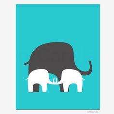 Items similar to Elephant Boys Girls Siblings Nursery Wall Art Print, Personalize Kids Twins Jungle Animal Shape Silhouette Turquoise White Gray ofCarola on Etsy Newborn Nursery, Elephant Nursery, Boy Or Girl, Baby Boy, Twin Boys, Twins, Siblings, Jungle Animals, Old Art