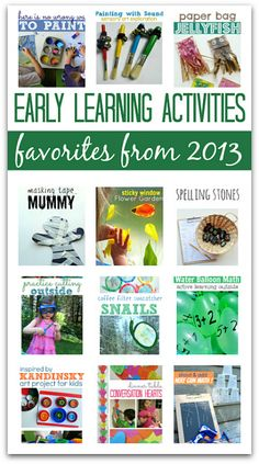 Favorite Early Learning Activities Of 2013 - No Time For Flash Cards