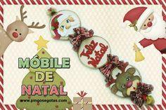 Pingos e Gotas: Passo-a-passo Móbile de Natal no canal do YouTube