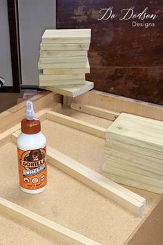 To add legs to furniture like these particleboard beauties, (ha!) you'll need to build up the base with a few pieces of solid wood. Diy Furniture Legs Ideas, Refinish Wood Furniture, Diy Furniture Renovation, Furniture Repair, Refurbished Furniture, Furniture Upholstery, Repurposed Furniture, Furniture Projects, Custom Furniture