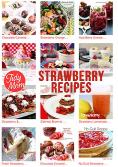 Strawberry Recipes for summer! Love these amazing dessert ideas!