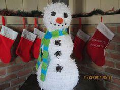 Snowman Pinata Large Snowman Pinata by IsabellasFunHouse on Etsy
