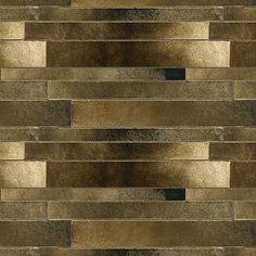 Artistic Tile | Ceramic | Fusioni Collection; Black/Gold Metallic Stilo Linear - love it