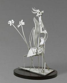 Pablo Picasso ~ Vrouw in een tuin ~ 1929-1930 ~ Gesoldeerd ijzer en verf ~ 206 x 117 x 85 cm. ~ Musée Picasso, Parijs