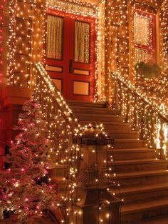 A little Christmas spirit Christmas Time Is Here, Noel Christmas, Merry Little Christmas, Outdoor Christmas, All Things Christmas, Winter Christmas, Christmas Vacation, Christmas Porch, Family Christmas
