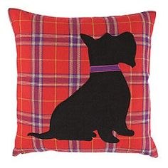 F Home Scotty Dog Cushion