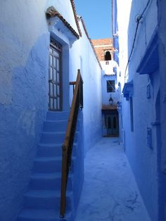 The stunning blue of the streets of Chefchaouen