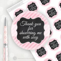 Printable Labels, Stickers, Tags Chalkboard Pink striped Personalized Label Sticker DIY Gift Tags. Custom Mason Jar Labels, Editable PDF