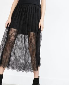 LACE PLEATED SKIRT - View all - Woman - NEW IN | ZARA Portugal