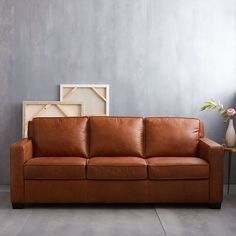 Henry® Leather Sofa - Tobacco