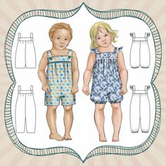 PATTERN Vintie Overalls - PDF Sewing Pattern - Instant Download - Fresh Patterns  Reminds me of a pattern I made for @whithale when she was 1 years old:)