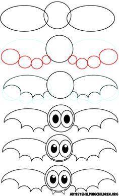 How to Draw Cartoon Vampire Bats