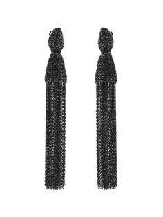 LONG CHAIN TASSEL EARRING - Earrings - Oscar de la Renta