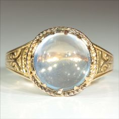 vintage moonstone jewelry | Antique 18k Victorian Moonstone Ring c.1890 from vsterling on Ruby ...