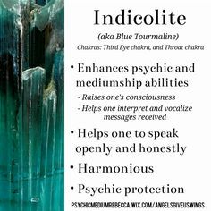 Indicolite crystal meaning