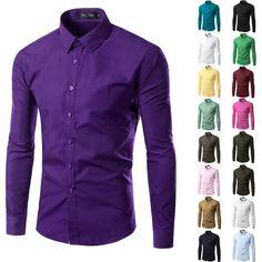 2016 Fashion Brand Mens Shirt Long Sleeve Camisa Masculina Men's Clothing Casual Dress Shirts Solid Color Work Wear Men 6492 *** Prover'te etot udivitel'nyy produkt, pereydya po ssylke na izobrazheniye.