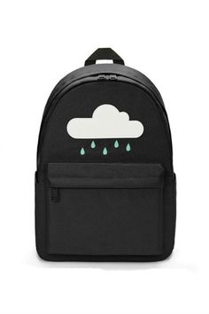 3eecfed1c7b2 Harajuku Black Cloud Rainy Canvas Backpack Mini Backpack