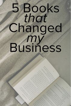 There are a lot of books about starting a business. With technology and marketing changing so quickly, there is always a new aspect of small business or entrepreneurship to read about. I've read many business books over the years - but these are the five that contain information and tactics I've actually implemented into my business. These are the books I refer back to over and over again.