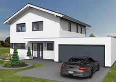 Dieses gut 153 m² große Einfamilienhaus habe ich zusammen mit einem jungen Ehe… This gut 153 m² large family house has together with a young wife pair geplant, that you have in the Vorfeld very intensive with the… Fence Styles, Backyard Fences, House Front, Detached House, Living Room Designs, Modern Design, House Plans, Home And Family, Villa