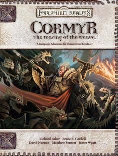 Cormyr: The Tearing of the Weave (3.5) - Forgotten Realms   Book cover and interior art for Dungeons and Dragons 3.0 and 3.5 - Dungeons & Dragons, D&D, DND, 3rd Edition, 3rd Ed., 3.0, 3.5, 3.x, 3E, d20, fantasy, Roleplaying Game, Role Playing Game, RPG, Open Game License, OGL, Wizards of the Coast, WotC, TSR Inc.   Create your own roleplaying game books w/ RPG Bard: www.rpgbard.com   Not Trusty Sword art: click artwork for source