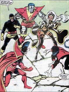"Storm uses this exact same line in the ""Planet X"" X-Men/Star Trek crossover book! Comic Book Pages, Comic Book Artists, Comic Book Covers, Comic Artist, Comic Books Art, Marvel Comics Superheroes, Hq Marvel, Dc Comics Art, Marvel Characters"