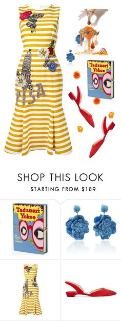 """""""La Dolce Vita"""" by dora-w ❤ liked on Polyvore featuring Olympia Le-Tan, Rebecca de Ravenel, Dolce&Gabbana, Paul Andrew, stripes and vacation"""