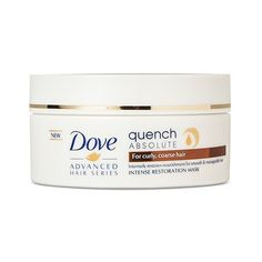 Dove Advanced Hair Series Quench Absolute Intense Restoration Mask . ($5.99) ❤ liked on Polyvore featuring beauty products, haircare, hair conditioner, dove haircare, curly hair conditioner, hydrating mask, dove hair care and curly hair care