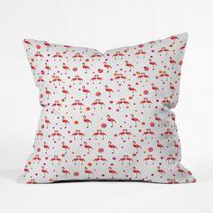 Flamingo Love Pillow Cover | dotandbo.com
