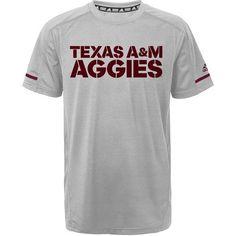 Adidas Boys' Texas A&M University Sideline Performance Training T-shirt (Grey, Size Medium) - NCAA Licensed Product, NCAA Youth Apparel at Academy ...