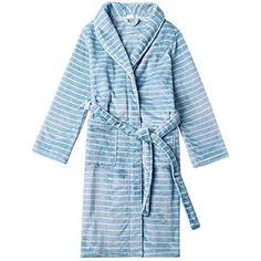 BOLAWOO Vêtement De Nuit Elégante Mode Warm Confortables Hiver Automne  Peignoir Mode Chic Épaissir Striure Pyjama 3ccde13af4c