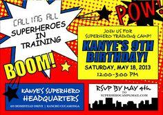 Printable Comic Book Super Hero Inspired Birthday Invitation ...