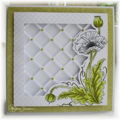 This card is beyond cool.  I have the lattice die -- never thought to use it like this!  NF