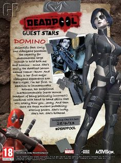 Deadpool Game Will Have Rogue, Psylocke, & Domino Marvel Comic Character, Comic Book Characters, Marvel Characters, Comic Books, Domino Marvel, Marvel Comics, Marvel Cosplay, Psylocke, Marvel Girls