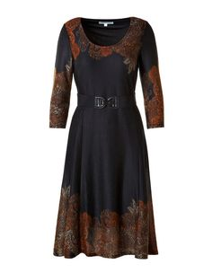Paisley Fit and Flare Sweater Dress #cleofashion | Cleo