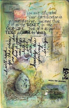 Melange Ticket Challenge, journal page by pamcarriker, via Flickr
