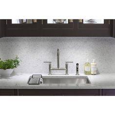 KOHLER K-5409-NA Strive 29-Inch x 18-5/16-Inch Undermount Medium SingleBowl Kitchen Sink with Basin Rack, Stainless Steel - - Amazon.com