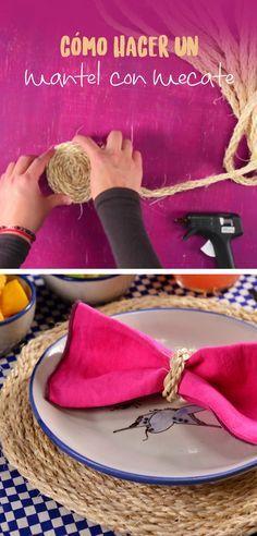 Cómo hacer un mantel con mecate | Esta es la mejor manera de decorar tu mesa con poco dinero es un lindo detalle que es muy sencillo de hacer y con materiales que tienes en tu casa.