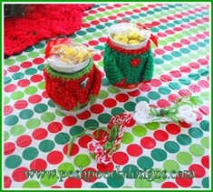 Posh Pooch Designs Dog Clothes: Sweater Coffee Mug Cozy Crochet Pattern and the Croco party! Crochet Christmas Ornaments, Holiday Crochet, Christmas Sweaters, Christmas Patterns, Christmas Ideas, Crochet Kitchen, Crochet Home, Free Crochet, Crochet Bags